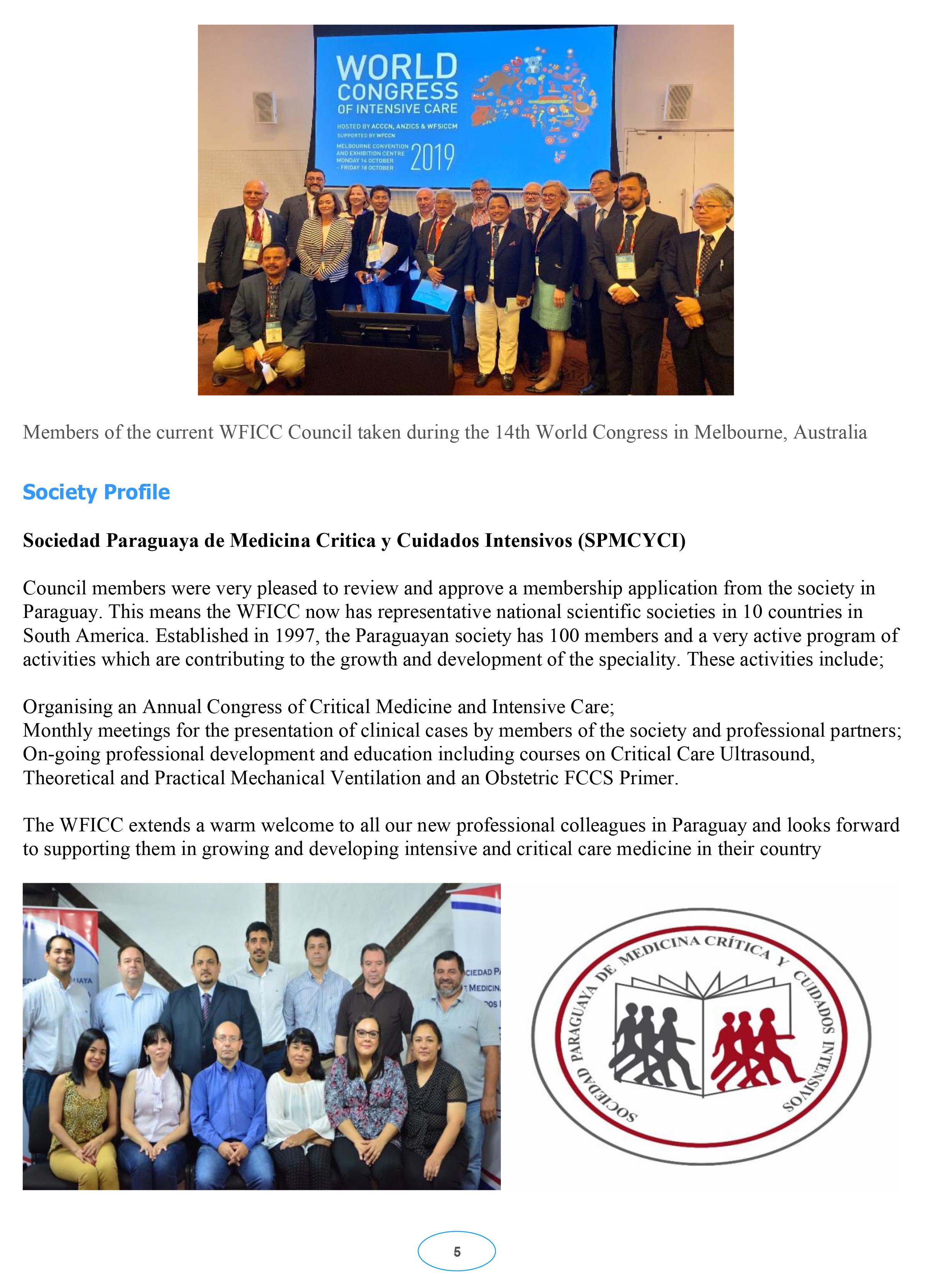 WFICC Newsletter